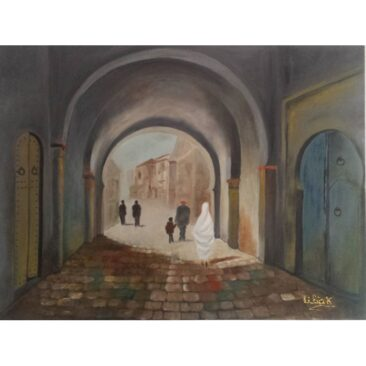 Tableau en peinture à l'huile 80cm sur 60cm