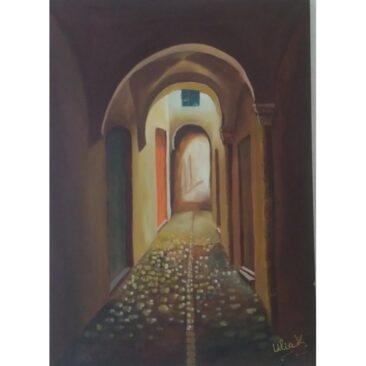 Tableau en peinture à l'huile 70cm x 50cm