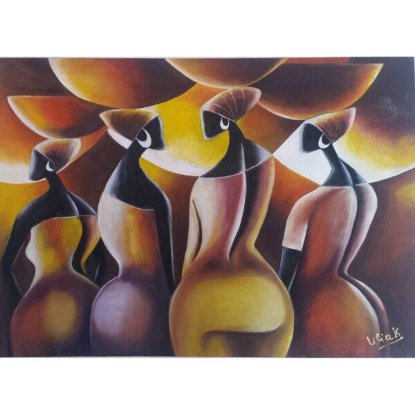 Tableau en peinture à l'huile 70 cm sur 50 cm