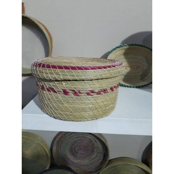 boite de décoration en fibre végetale