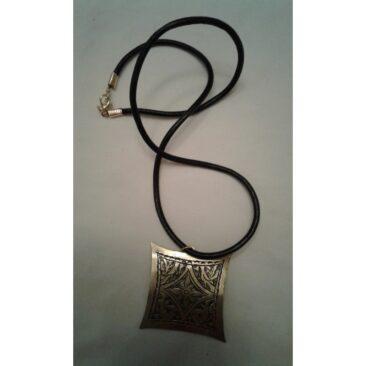 Collier cordon en cuir