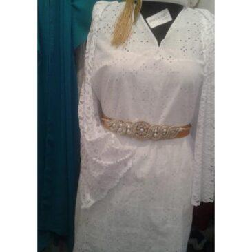 robe arabe tunisienne avec ceinture