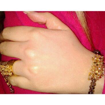 Bracelet cristal avec bague