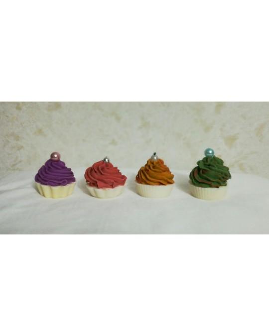 lot de 4 savons cupcakes