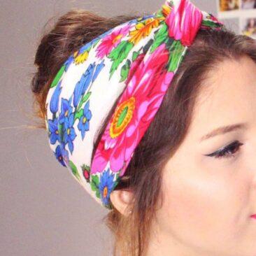 foulard tendance à fleurs