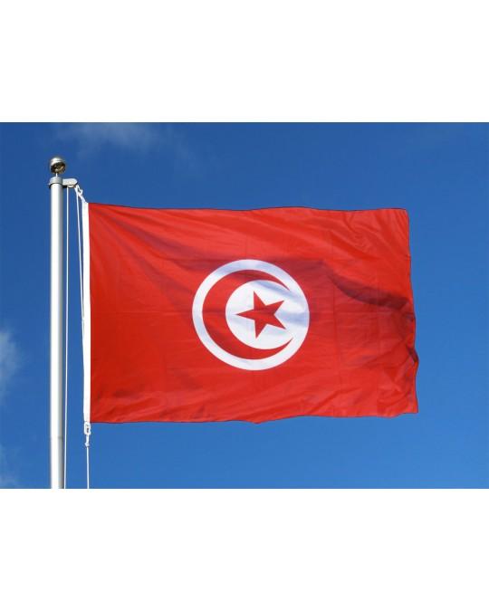 Drapeau Tunisie 150X90cm avec oeillets
