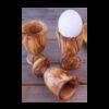 Coquetier en bois d'olive
