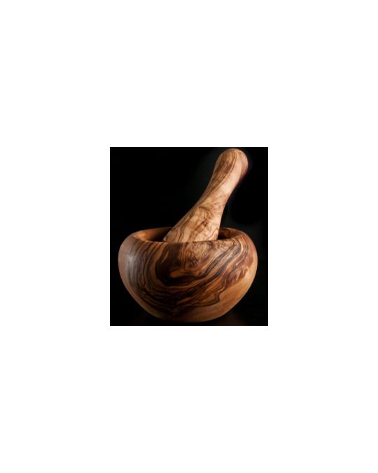 Mortier et pilon en bois d'olive