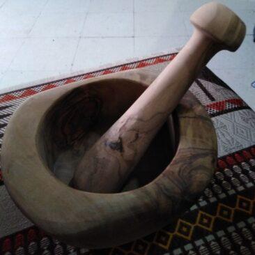 Mortier bois d'olivier