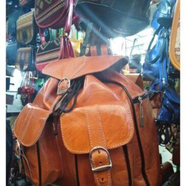 sac à dos(cartable en cuir)