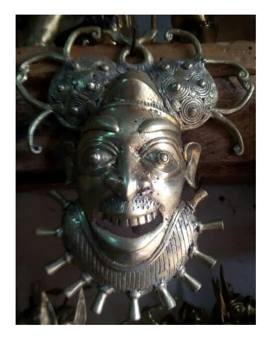 Masque en bronze(Cameroun)