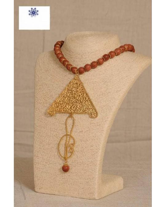 Collier motif khlel