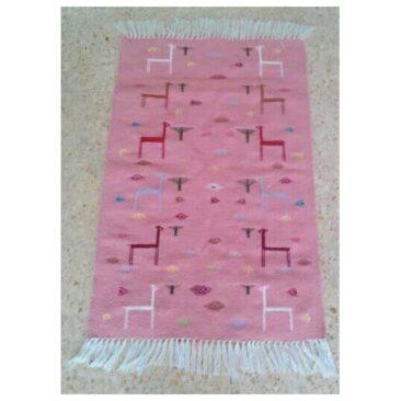 Petit tapis berbère rose
