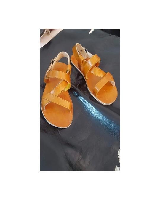 Sandale cuir homme