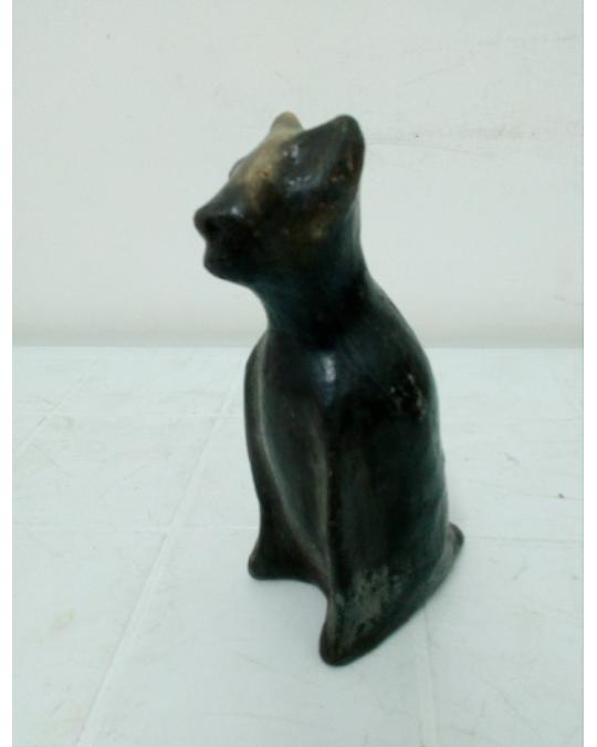 Chat en terre cuite poterie berbère tunisien-poterie Sajnen